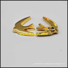 Forma de pássaro rebite de liga na cor ouro brilhante