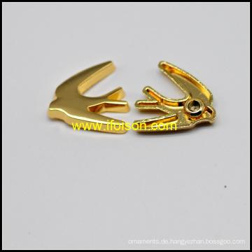Vogel-Form Legierung Nieten in glänzendem Gold Farbe