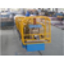 Rodillo de goma de la mitad redondo que forma la máquina / la máquina rectangular de la canalina de la forma / la canalétera de lluvia trapezoidal del metal que hace la máquina