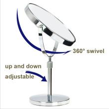 Großhandel Badezimmer verstellbare Tisch Make-up Spiegel mit Lupe