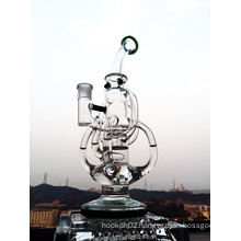 Wholesale Panty Dropper Dubble Recycler Glass Smoking Pipe