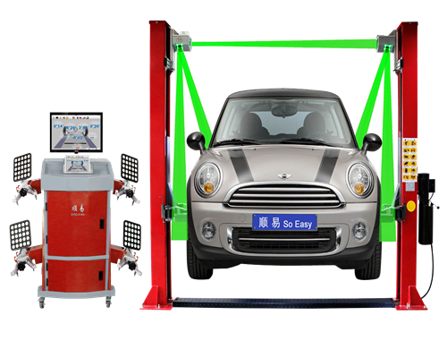Five Cameras Wheel Alignment Machine