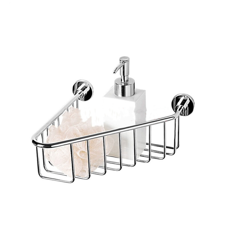 Bathroom Accessories Products High quality SUS304# Bathroom corner basket rack basket, shape: triangular, material: SUS 304 Stainless Steel, surface finishing is Nickel Brushed, process is hairline Stainless Steel, packaging:1pcs Soap basket with install accessories 304 Stainless steel genuine materials quality assurance. Triangular design clever use of space increase the aesthetic feeling, simple fashion design exquisite workmanship 10 years of quality assurance. Install style is wall mounted type. Our company not only produces stainless steel bathroom fittings, but also involves injection molding products, aluminium casting process, automotive plastic parts manufacturing process. welcome to visit our company's official website.