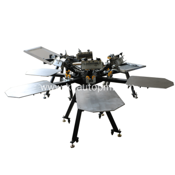 Manual cheap octopus screen printing machine