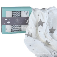100% Baumwolle Baby Musselin Swaddle Decken Musselin Baby Swaddle Decke
