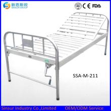 China Günstige Edelstahl Ein Funktions-Handbuch Krankenhaus Betten
