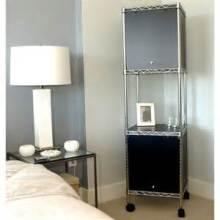 Rack de rangement métallique pour chambre à coucher en métal léger en bricolage (LD7535180A3CW)
