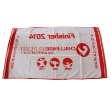 Serviette de plage personnalisée 100% coton rouge