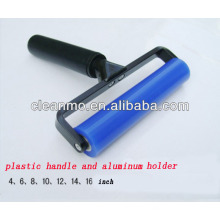 Fabricant bleu rouleaux de charpie adhésifs de silicone / collant avec poignée en aluminium
