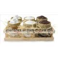 Resin Decor Food Storage Jar, 440ml Glass Jar