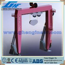 Navio hidráulico marinho Um frame guindaste
