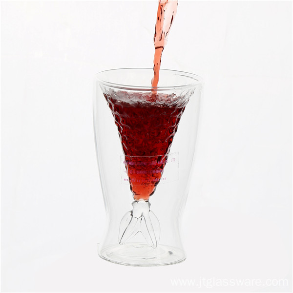 Fish Shape Red Wine Glass Cup