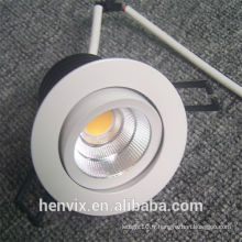 110v 80RA 7w hot white led downlight boîtier