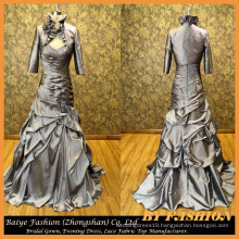 Latest Satin Mother Evening Dress with Jacket Party Dress Night Women Gown BYE-14096