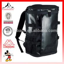 mochila impermeable al aire libre de la lona del cierre TPU con la bolsa del bolsillo de la malla afuera
