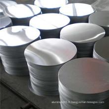 3003 cercle en aluminium pour l'éclairage