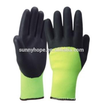 CE Nitrile acrylique terry gants hiver