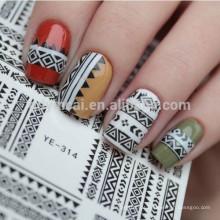 Decalques de água de arte Provisional Nail Sticker