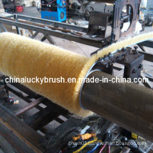 PP Material Strip and Crimped Wire Cleaning Roller Brush (YY-091)