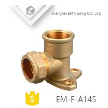 EM-F-A145 OEM ODM 90 Grad Winkelstück Messing Rohrverschraubung zu reduzieren