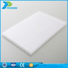 Material de matéria-prima de Bayer três triplas paredes de policarbonato reciclado folha oca oca