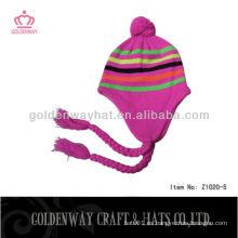 Sombreros hechos punto del invierno de las mujeres de encargo