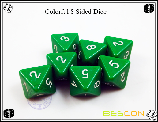 Colorful 8 Sided Dice-3