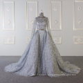 Baiyi Custom made gray bling bling luxury wedding gown 2018 WT543