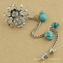 So Cute Spider Crystal Ear Cuff Individual Vintage Alloy Ear Clip With Turquoise Earring Jewelry For Woman EC25