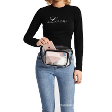 Amazon Hot Outdoor Fashion Transparent Fanny Pack Clear PVC Waterproof Waist Bag For Women Men