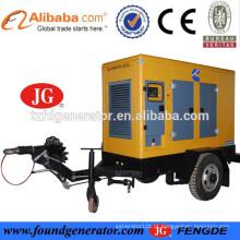 CE aprovado 100kva 80kw gerador móvel silencioso para mineração