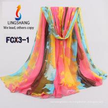 FCX3 Großhandels Chiffon- Schal neue Art hijab Schalart und weiseschals und Schals 180 * 150cm