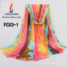 FCX3 wholesale chiffon scarf new style hijab scarf fashion shawls and scarves 180*150cm