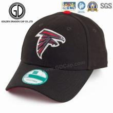 Gorras de béisbol negras de moda de los deportes con el logotipo del bordado de la calidad