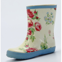 Children's Flower Printing Rubber Rain Boots