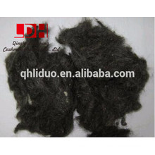 black wool waste