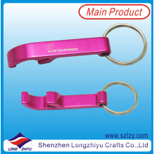Metal Pink Bottle Opener Keychain Custom Keychain Maker
