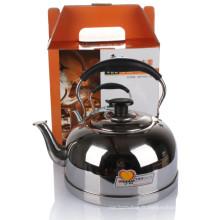 Bouilloire d'eau de sifflement de haute qualité avec poignée de bakélite