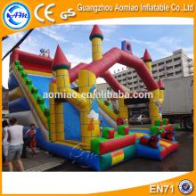 2016 Slide gigante inflable comercial, gran diapositiva inflable seca para los niños