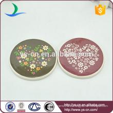 Mini placa de forma redonda para la decoración del hogar con patten lindo