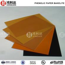 Placa de resina fenólica de baquelita por laminação de papel