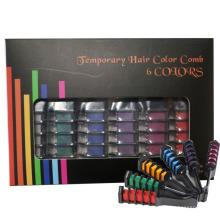 6 colores Temporal pelo color peine pelo Pasteles Kit