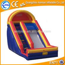 Alta emocionante slide inflável gigante, melhor venda construir o seu próprio slide playground