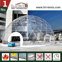 Large Elegant Aluminum Frame Geodesic Green House for Farming