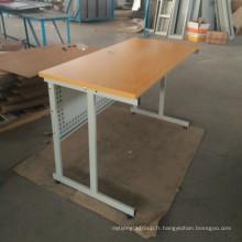 Projet de travail simple conception MDF table de lecture de cadre en métal haut avec pied de stand