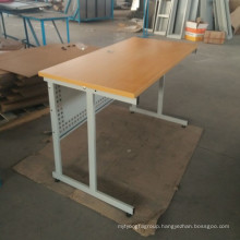 Labor project simple design MDF top metal frame reading table with stand leg