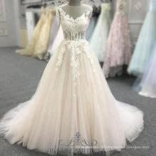 A-ligne rose dos ouvert sans manches robes de bal avec perles Halter robe de soirée longue robe
