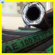 Tuyau en caoutchouc standard de la durite SAE R16 de tuyau d'huile de tresse de fil d'acier