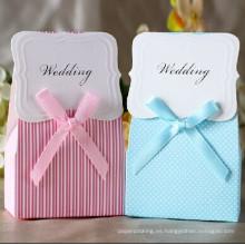 Personalizada Caja de papel de regalo de dulces de boda / caja de cartón troquelado