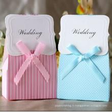 Boîte en papier cadeau à bonbons pour mariage personnalisée / Boîte en carton coupé
